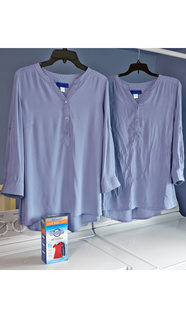 Woolite® At-Home Dry Cleaner - Fresh Scent Before and After