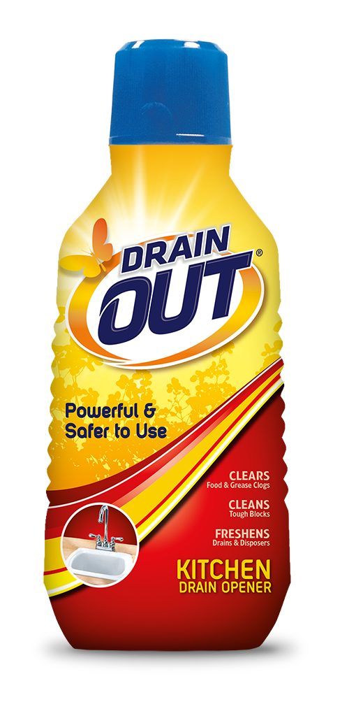 Drain OUT Kitchen Drain Opener & Clog Remover Package Front; 16 fl oz; SKU DOK01B