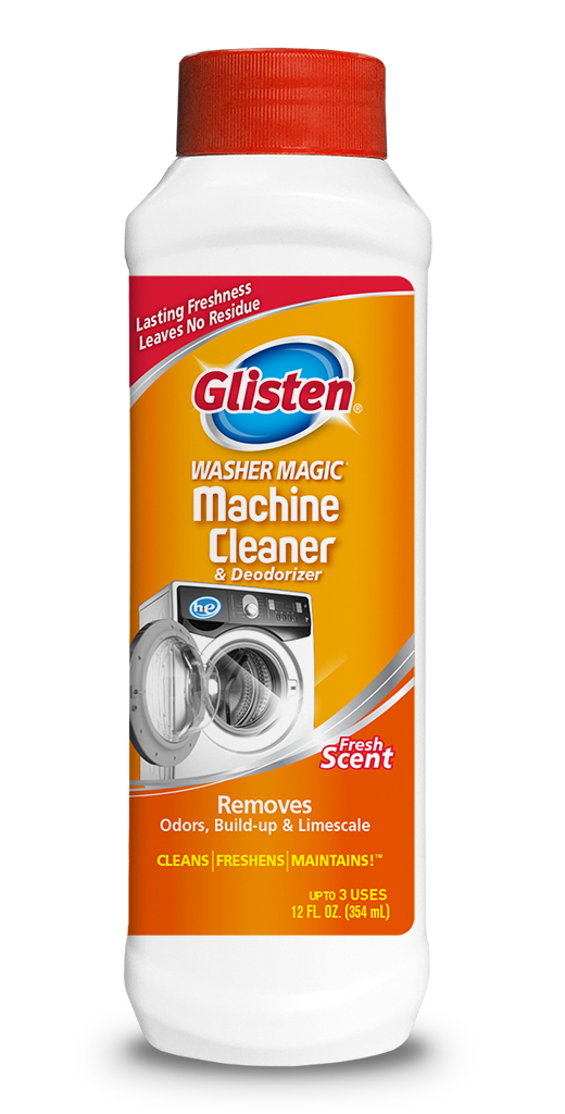 Glisten Washer Magic - Washing Machine Cleaner Package Front; SKU WM01B