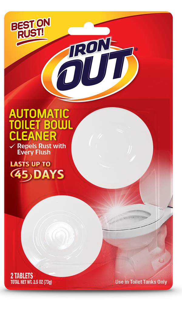 Iron OUT Automatic Toilet Bowl Cleaner 2 use front SKU AT01C