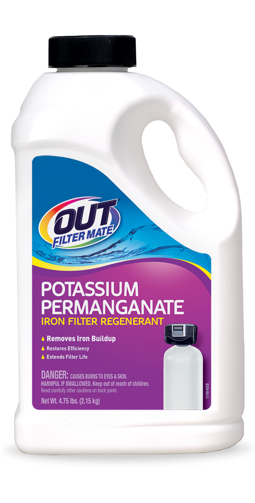 OUT Filter Mate Potassium Permanganate Water Treatment Package Front; SKU PF05B
