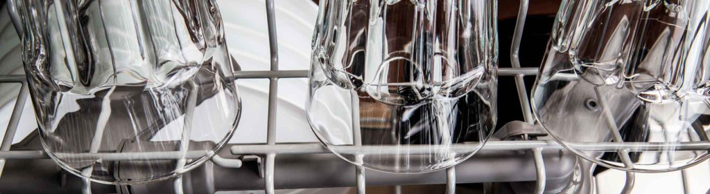 Clean Drinking Glasses in Dishwasher