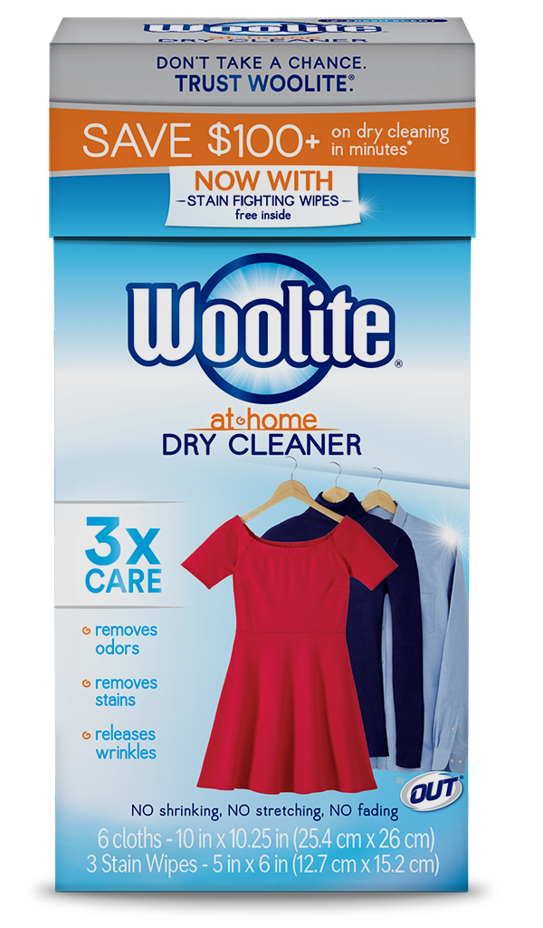 Woolite At-Home Dry Cleaner Fresh Scent Package Front; 6 cloth; SKU DCS01B