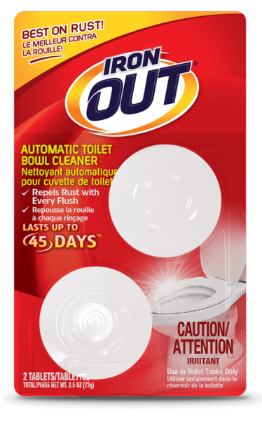 Iron OUT Automatic Toilet Bowl Cleaner 2-use SKU C-AT01C