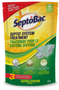 SeptoBac Septic Tank Treatment Pacs 3-use SKU C-SB0603P