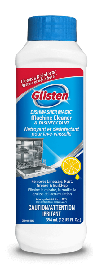 Glisten Dishwasher Magic Machine Cleaner 354mL Front SKU C-DM01B